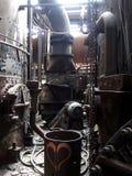 Interno della fabbrica d'acciaio abbandonata Fotografie Stock Libere da Diritti