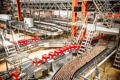 Interno della fabbrica di birra Immagine Stock Libera da Diritti