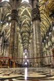 Interno della foto di HDR dei Di famosi Milano del duomo della cattedrale sulla piazza a Milano fotografie stock libere da diritti