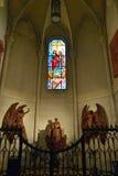 Interno della La Almudena della cattedrale Fotografia Stock Libera da Diritti