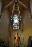 Interno della La Almudena della cattedrale Immagini Stock Libere da Diritti