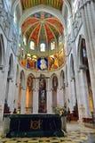 Interno della La Almudena della cattedrale Immagine Stock Libera da Diritti