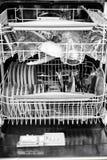 Interno della lavastoviglie Fotografia Stock