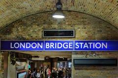 Interno della metropolitana di Londra fotografie stock