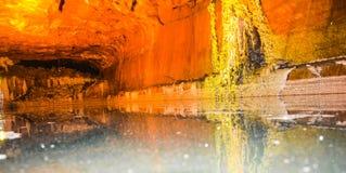 Interno della miniera di sale in Khewra Fotografia Stock Libera da Diritti