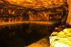 Interno della miniera di sale in Khewra Immagine Stock