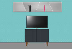 Interno della mobilia Fotografie Stock