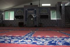 Interno della moschea fotografia stock