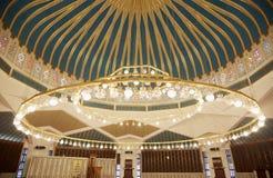 Interno della moschea a Amman, Giordania Fotografia Stock