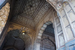 Interno della moschea di Badshahi Fotografia Stock Libera da Diritti