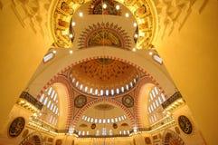 Interno della moschea di Suleymaniye a Costantinopoli Fotografia Stock Libera da Diritti