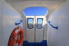 Interno della nave di passeggero dell'aliscafo Fotografia Stock