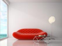 Interno della rappresentazione della sala 3D di progettazione moderna Fotografia Stock