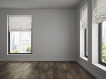 Interno della rappresentazione vuota della sala 3D Fotografia Stock