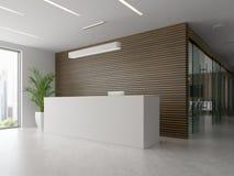 Interno della ricezione e dell'illustrazione della sala riunioni 3D Fotografia Stock
