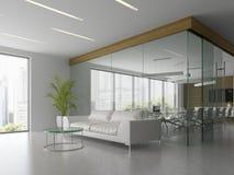 Interno della ricezione e dell'illustrazione della sala riunioni 3D Immagine Stock
