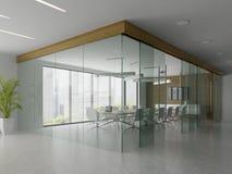 Interno della ricezione e dell'illustrazione della sala riunioni 3D Immagini Stock