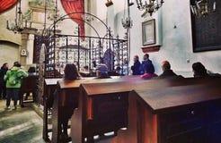 Interno della sinagoga Immagini Stock Libere da Diritti