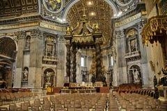 Interno della st di OS della basilica, Peter Rome Italy Fotografia Stock Libera da Diritti