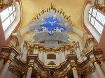 Interno della st Sophia Cathedral in Polatsk Immagine Stock