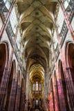 Interno della st Vitus Cathedral a Praga Fotografie Stock Libere da Diritti