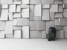 Interno della stanza bianca con i modelli ornamentali Immagine Stock Libera da Diritti