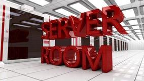 interno della stanza del server 3d Fotografia Stock