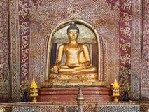 Interno della statua di Hall Buddha un PHA-si importante e molto vecchio di Wat fotografie stock libere da diritti