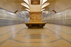 """Interno della stazione della metropolitana """"Sokol"""" Fotografie Stock Libere da Diritti"""