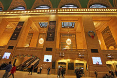 Interno della stazione ferroviaria di Grand Central, New York, U.S.A. Fotografie Stock Libere da Diritti