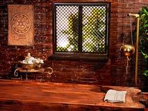 Stazione termale indù di massaggio di ayurveda. fotografie stock
