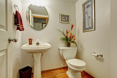 Interno della toilette con i fiori Immagini Stock Libere da Diritti