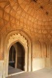 Interno della tomba di Safdarjung, Nuova Delhi, India fotografia stock