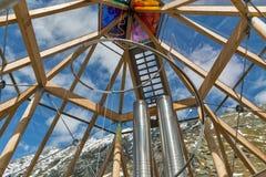 Interno della torre di osservazione di Swarowski al Grossglockner in Austria Fotografia Stock