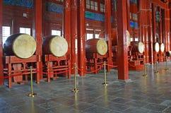 Interno della torre famosa del tamburo a Pechino Cina Fotografia Stock