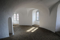 Interno della torre rotonda a Copenhaghen, Danimarca Fotografia Stock Libera da Diritti