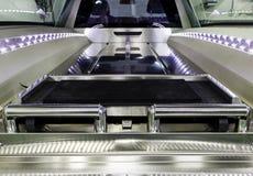 Interno delle bare di trasporto di un'automobile funeraria fotografia stock libera da diritti
