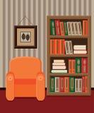 Interno delle biblioteche illustrazione vettoriale
