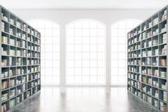 Interno delle biblioteche Fotografia Stock