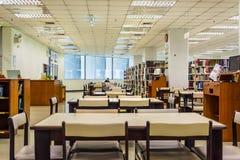Interno delle biblioteche dell'università di Chulalongkorn, i più vecchi univers Fotografia Stock