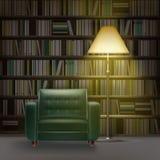 Interno delle biblioteche domestiche Fotografia Stock Libera da Diritti
