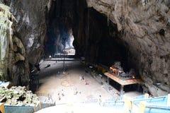 Interno delle caverne di Batu Gombak, Selangor malaysia fotografie stock