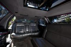 Interno delle limousine fotografie stock