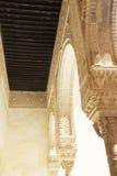 Interno di Alhambra Palace, Granada, Spagna Immagine Stock Libera da Diritti