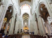 Interno di Almudena Cathedral. Madrid Fotografie Stock Libere da Diritti