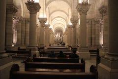 Interno di Almudena Cathedral a Madrid Immagine Stock Libera da Diritti