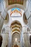 Interno di Almudena Cathedral a Madrid Fotografia Stock Libera da Diritti