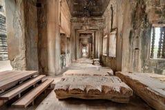 Interno di Angkor Wat Fotografia Stock