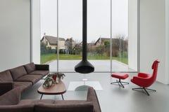 Interno di bella casa moderna Fotografia Stock