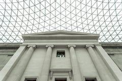 Interno di British Museum con il baldacchino lustrato Fotografia Stock